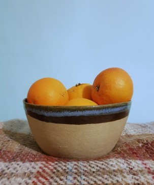 Blood oranges, handmade bowl