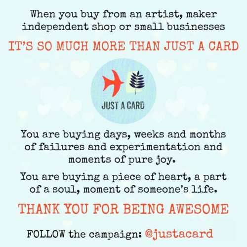 Just A Card campaign ad